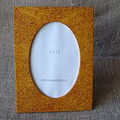 Сувениры и подарки handmade. Livemaster - original item Photo frame made of Karelian birch 9х13. Handmade.