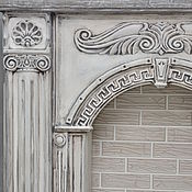 Для дома и интерьера handmade. Livemaster - original item Fireplace decorative Greece, concrete, precast for painting. Handmade.