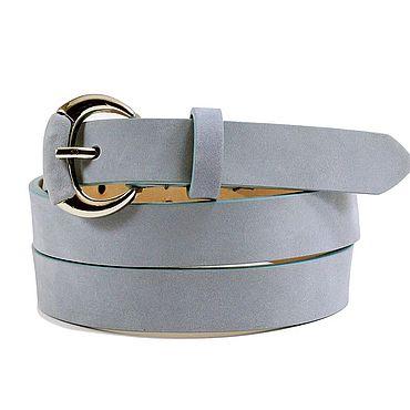 Accessories handmade. Livemaster - original item Copy of Light blue suede belt. Handmade.
