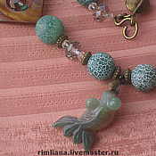 handmade. Livemaster - original item Long beads