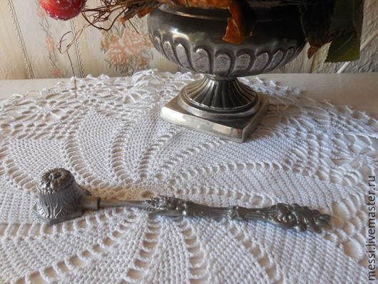 Винтажные предметы интерьера. Ярмарка Мастеров - ручная работа. Купить Гаситель для свечи, тушитель, олово, винтаж. Handmade. Серебряный, олово