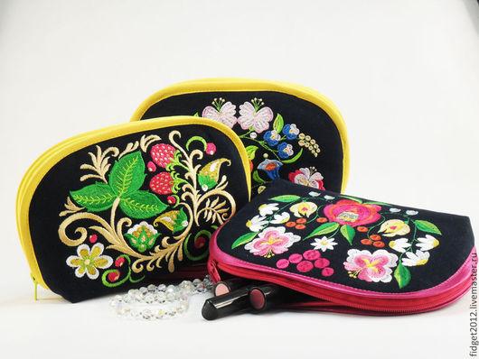 Женские сумки ручной работы. Ярмарка Мастеров - ручная работа. Купить Косметичка. Handmade. Тёмно-синий, косметичка из ткани, джинса