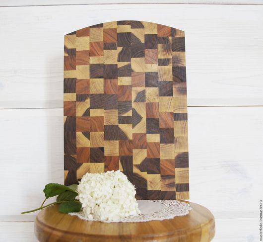 доска разделочная, разделочная доска, мозаичная разделочная доска,  доска для кухни, доска разделочная из разных пород дерева,