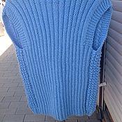 Одежда ручной работы. Ярмарка Мастеров - ручная работа Вязанный жилет-безрукавка. Handmade.