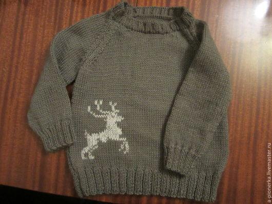Одежда для мальчиков, ручной работы. Ярмарка Мастеров - ручная работа. Купить Детский джемпер. Handmade. Коричневый, детский свитер