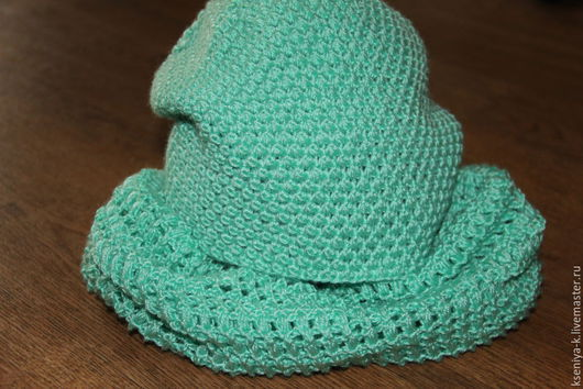 Комплекты аксессуаров ручной работы. Ярмарка Мастеров - ручная работа. Купить Комплект( шапка, снуд). Handmade. Мятный, шерсть с шёлком