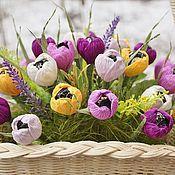 Цветы и флористика ручной работы. Ярмарка Мастеров - ручная работа Весенние крокусы...........букет из конфет. Handmade.