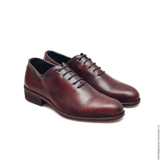 Обувь ручной работы. Ярмарка Мастеров - ручная работа. Купить Модель - Plains. Handmade. Бордовый, аксессуар, обувь, 100% кожа