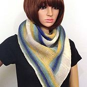 Аксессуары handmade. Livemaster - original item Knitted bactus (kerchief, mini shawl) made of mohair with polyamide. Handmade.