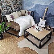 Мебель для кукол ручной работы. Ярмарка Мастеров - ручная работа Миниатюрный модульный каркас: диван, стул, стол или кровать.. Handmade.