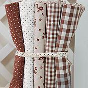 Ткани ручной работы. Ярмарка Мастеров - ручная работа Отрез ткани коричневый. Handmade.