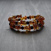 Украшения handmade. Livemaster - original item Amber bracelet with wooden beads in a gift box. Handmade.