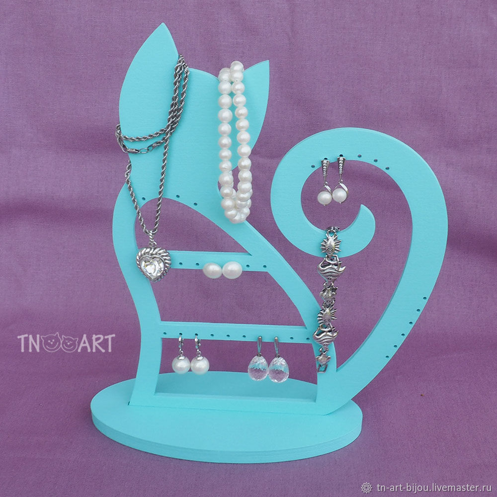 Stand for jewelry 'Kitty' turquoise, Box, Sochi,  Фото №1