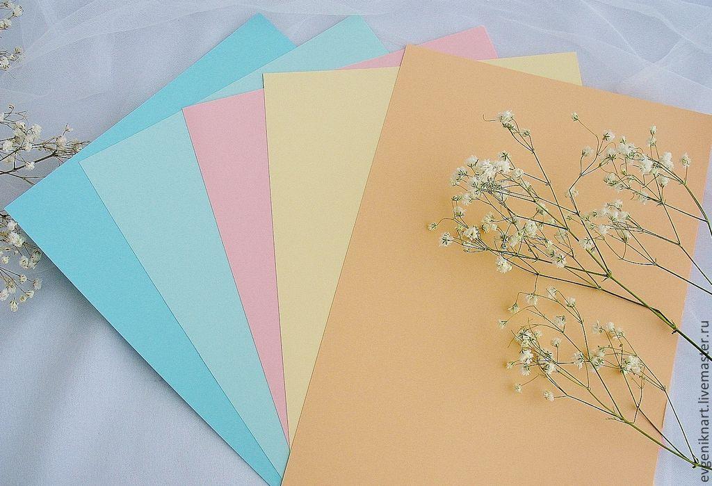 Бумага для обычных открыток, нарисовать рисунок открытку