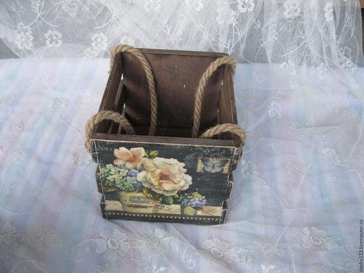 """Корзины, коробы ручной работы. Ярмарка Мастеров - ручная работа. Купить короб корзинка ящик """" Цветочный аромат"""". Handmade."""