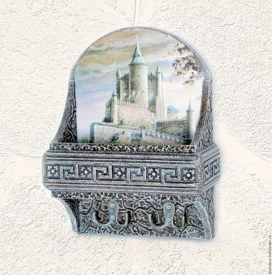 """Прихожая ручной работы. Ярмарка Мастеров - ручная работа. Купить Ключница с карманом """"Каменный замок"""". Handmade. Комбинированный, старый замок"""