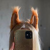 Украшения handmade. Livemaster - original item Fur ears (Squirrel). Handmade.