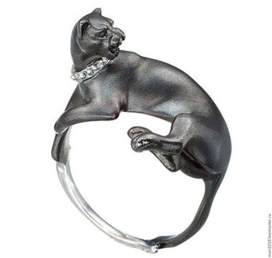 Кольца ручной работы. Ярмарка Мастеров - ручная работа. Купить Кольцо Чёрная пантера. Handmade. Черный, белое золото
