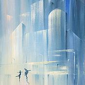 Картины и панно handmade. Livemaster - original item Painting acrylic. Dancing in the rain. Handmade.