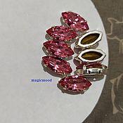 handmade. Livemaster - original item 1 piece Czech rhinestone 15h7mm Rose Navette Czech crystals in DACs. Handmade.