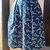 Одежда ручной работы. Ярмарка Мастеров - ручная работа юбка из хлопка Диор. Handmade.