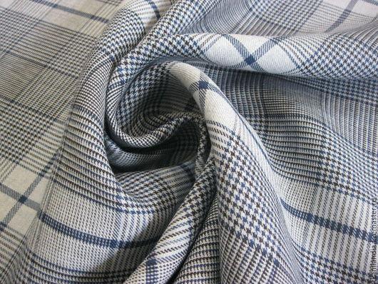 Шитье ручной работы. Ярмарка Мастеров - ручная работа. Купить Итальянский лен с шелком.56264. Handmade. Тёмно-синий, лен