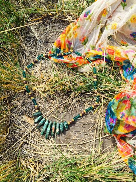 """Колье, бусы ручной работы. Ярмарка Мастеров - ручная работа. Купить Колье """"Утерянные сокровища"""". Handmade. Натуральные камни"""