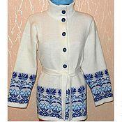 Одежда handmade. Livemaster - original item Cardigan Cornflower. Handmade.