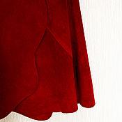 Одежда handmade. Livemaster - original item Suede skirt wine color. Handmade.