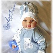 """Работы для детей, ручной работы. Ярмарка Мастеров - ручная работа Комплект одежды для новорождённого """"Мишка-юнга"""". Handmade."""