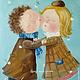 """Репродукции ручной работы. Ярмарка Мастеров - ручная работа. Купить """"Целуй меня утром!"""", копия картины Е.Гапчинской. Handmade."""