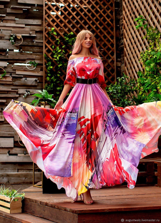 """Платья ручной работы. Ярмарка Мастеров - ручная работа. Купить """"Алые паруса"""" Шёлковое платье в эксклюзивной расцветке!. Handmade."""