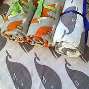 Одежда ручной работы. Ярмарка Мастеров - ручная работа Муслиновые пеленки. Handmade.
