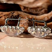 Earrings handmade. Livemaster - original item Rose quartz. earrings. Handmade.