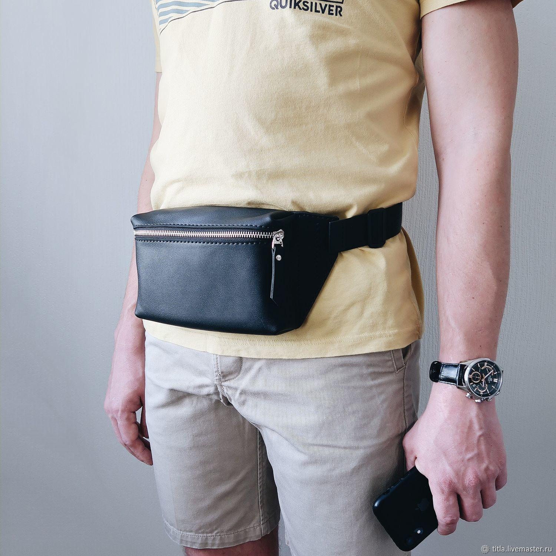 Handmade leather waist bag, Waist Bag, St. Petersburg,  Фото №1
