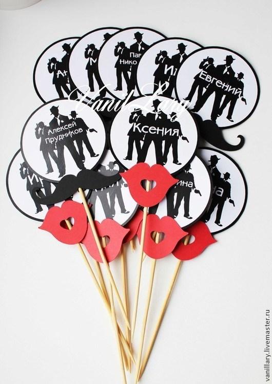 Свадебные аксессуары ручной работы. Ярмарка Мастеров - ручная работа. Купить Карточки для рассадки  на палочке Чикаго Гэтсби. Handmade. Гэтсби