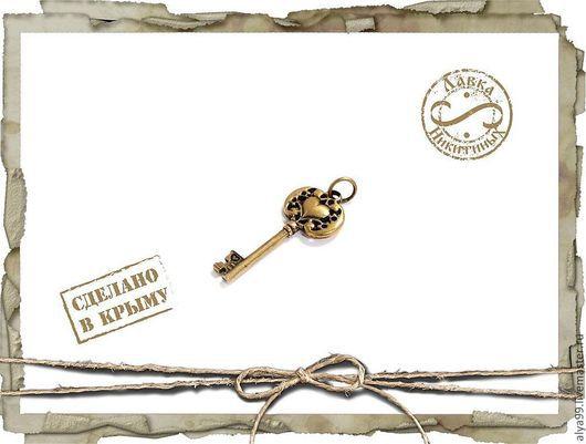 Кулоны, подвески ручной работы. Ярмарка Мастеров - ручная работа. Купить Ключ от сердца.. Handmade. Серебро, золотой ключик