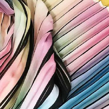 Материалы для творчества ручной работы. Ярмарка Мастеров - ручная работа Ткань: плиссе Радуга. Handmade.