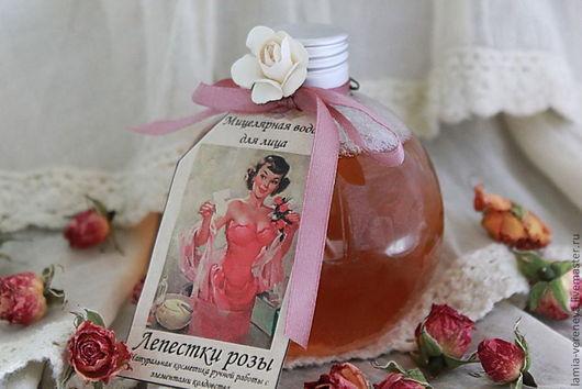 """Для снятия макияжа ручной работы. Ярмарка Мастеров - ручная работа. Купить Мицеллярная вода """"Лепестки розы"""". Handmade. Коралловый"""