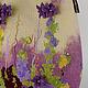 Сумка из войлока `Пока Глициния цветёт.....`