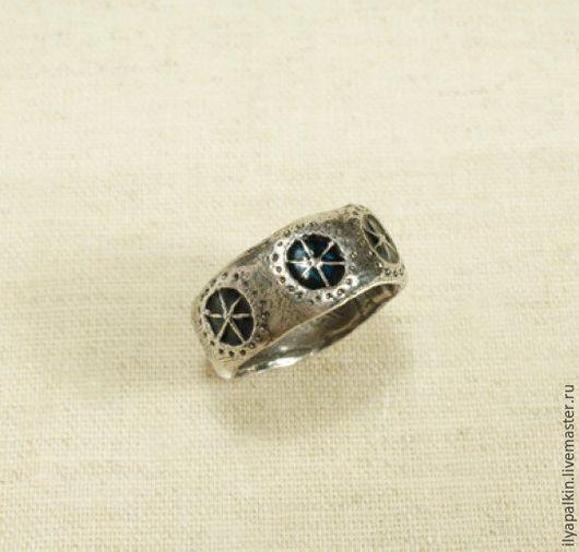 кольцо с эмалью ск 16 серебро 925, горячая эмаль. Вес 5,60 гр.  Автор: Вера Палкина