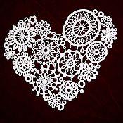 Материалы для творчества handmade. Livemaster - original item Lace, applique. Cardiac mechanism. Handmade.