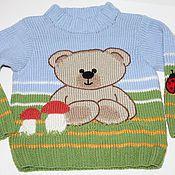 """Одежда ручной работы. Ярмарка Мастеров - ручная работа Джемпер """"Мишкина радость"""" для ребенка 3-5 лет. Handmade."""