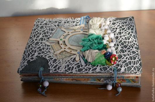 Фотоальбомы ручной работы. Ярмарка Мастеров - ручная работа. Купить Альбом морской. Handmade. Альбом для фото, море, подарок подруге
