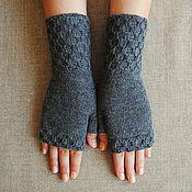 Аксессуары handmade. Livemaster - original item Mitts, knitted Honeycomb. Handmade.
