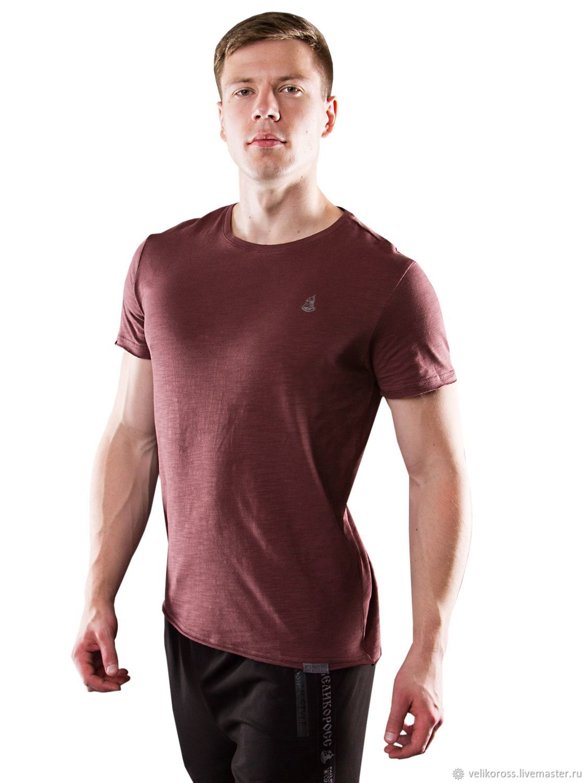 Мужская футболка «Великоросс» бордового цвета, Футболки, Санкт-Петербург, Фото №1