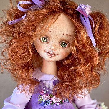Dolls & toys handmade. Livemaster - original item Violetta. Author`s textile doll collectible.. Handmade.