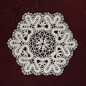 Для дома и интерьера handmade. Livemaster - original item Lace doilies. Vyatka lace, Vologda lace.. Handmade.