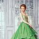 """Платья ручной работы. Ярмарка Мастеров - ручная работа. Купить Платье """" Волны"""". Handmade. Зеленый, вечернее платье, принцесса"""