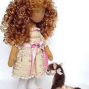 Куклы и игрушки ручной работы. Ярмарка Мастеров - ручная работа Текстильная интерьерная кукла Стася с лошадкой. Handmade.